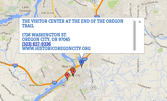 On the Trail: End of the Oregon Trail - Historic Oregon City Map